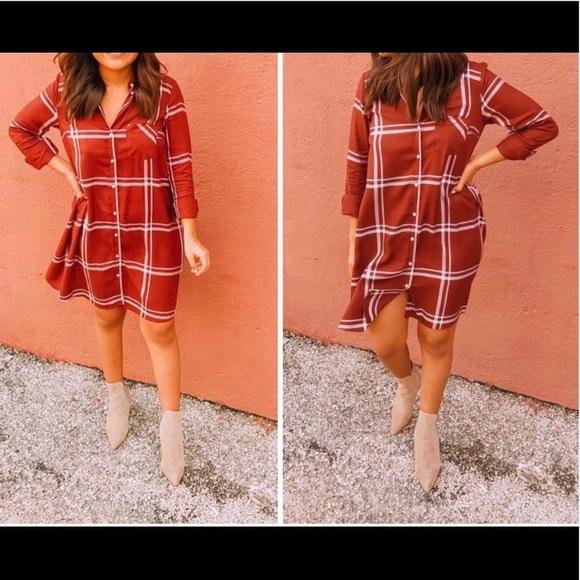 940d84d167fd2 Old Navy Dresses | Plaid Swing Shirt Dress | Poshmark